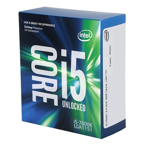 CPU Intel Core i5-7600K 3.8 GHz / 6MB / HD 630 Series Graphics / Socket 1151 (Kabylake)