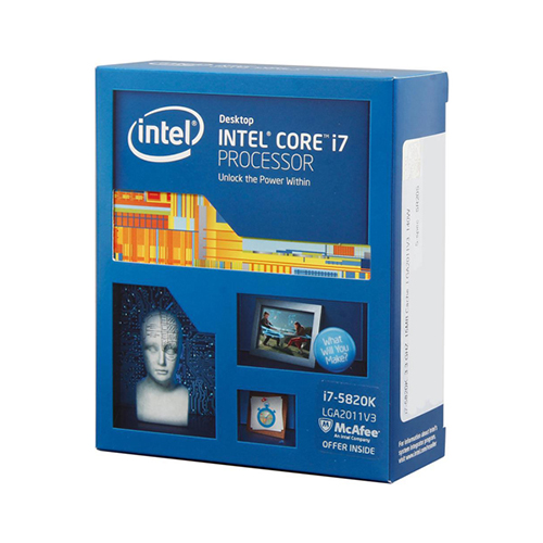 Intel Core i7-5820K 3.3 GHz / 15MB / Không có IGP / 6 Cores12 ThreadsQPI / Socket 2011 (No Fan)
