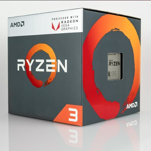 CPU AMD Ryzen 3 1300X 3.5 GHz (3.7 GHz with boost) / 8MB / 4 cores 4 threads / socket AM4