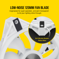 FAN Corsair 120mm Corsair QL120 RGB kèm Node PRO WHITE (pack 3)