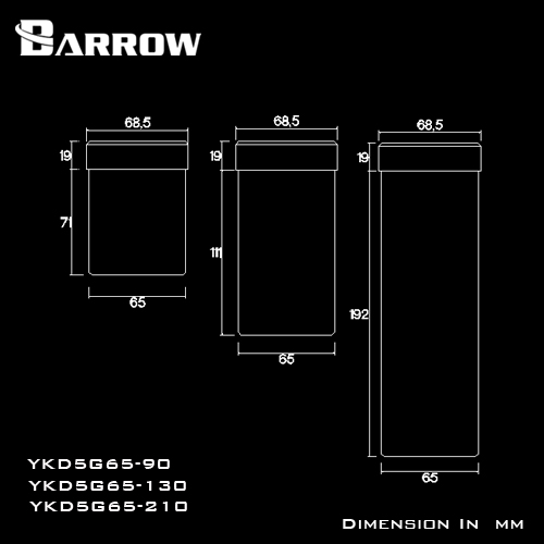 Tank Barrow Upgrade for D5 65x130mm (YKD5G65-130)