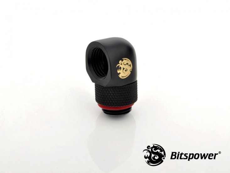 FITTING Bitspower 90 MALE-FEMALE ROTARY (Carbon Black)