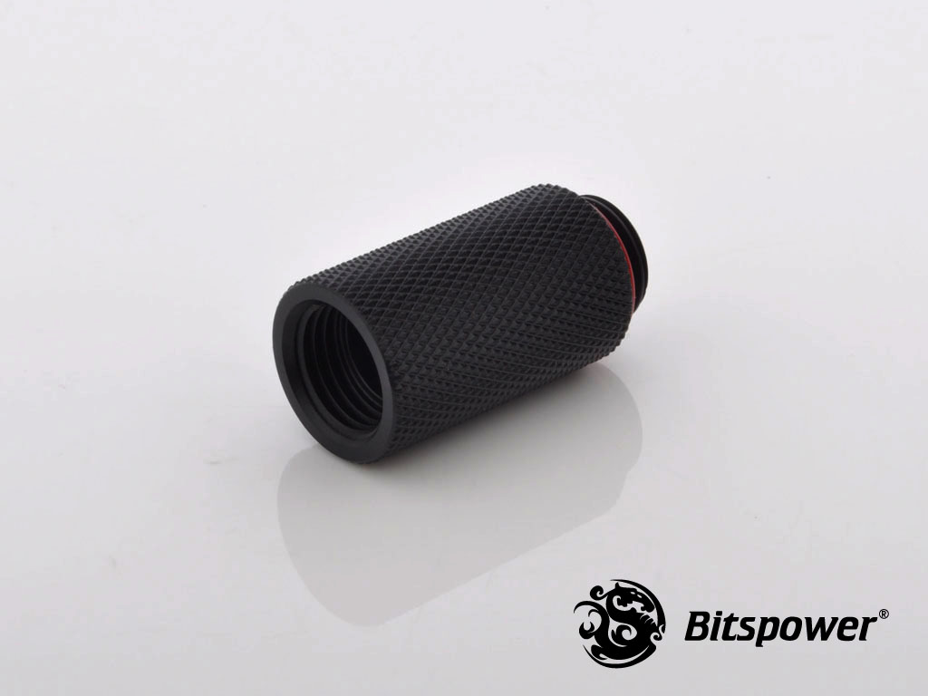 FITTING BITSPOWER EXTEN 30MM MALE-FEMALE (CARBON BLACK)