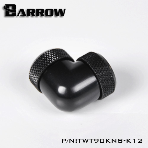 Fitting Barrow 90+com OD:12 female-female (Black)