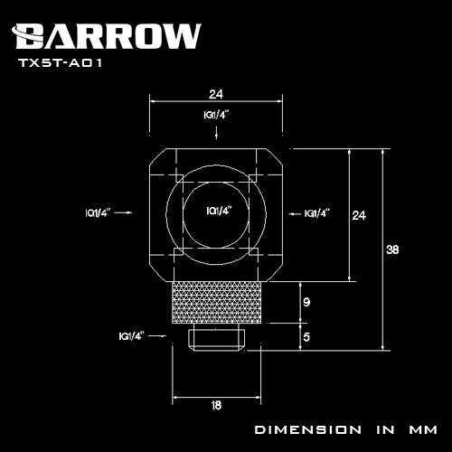 Fitting Barrow T5 male-female (White)
