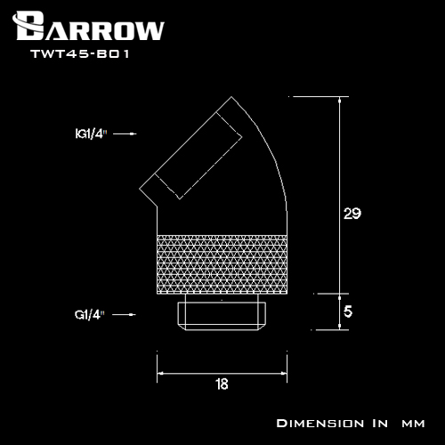 Fitting Barrow 45 Male-Female V2.5 (White)