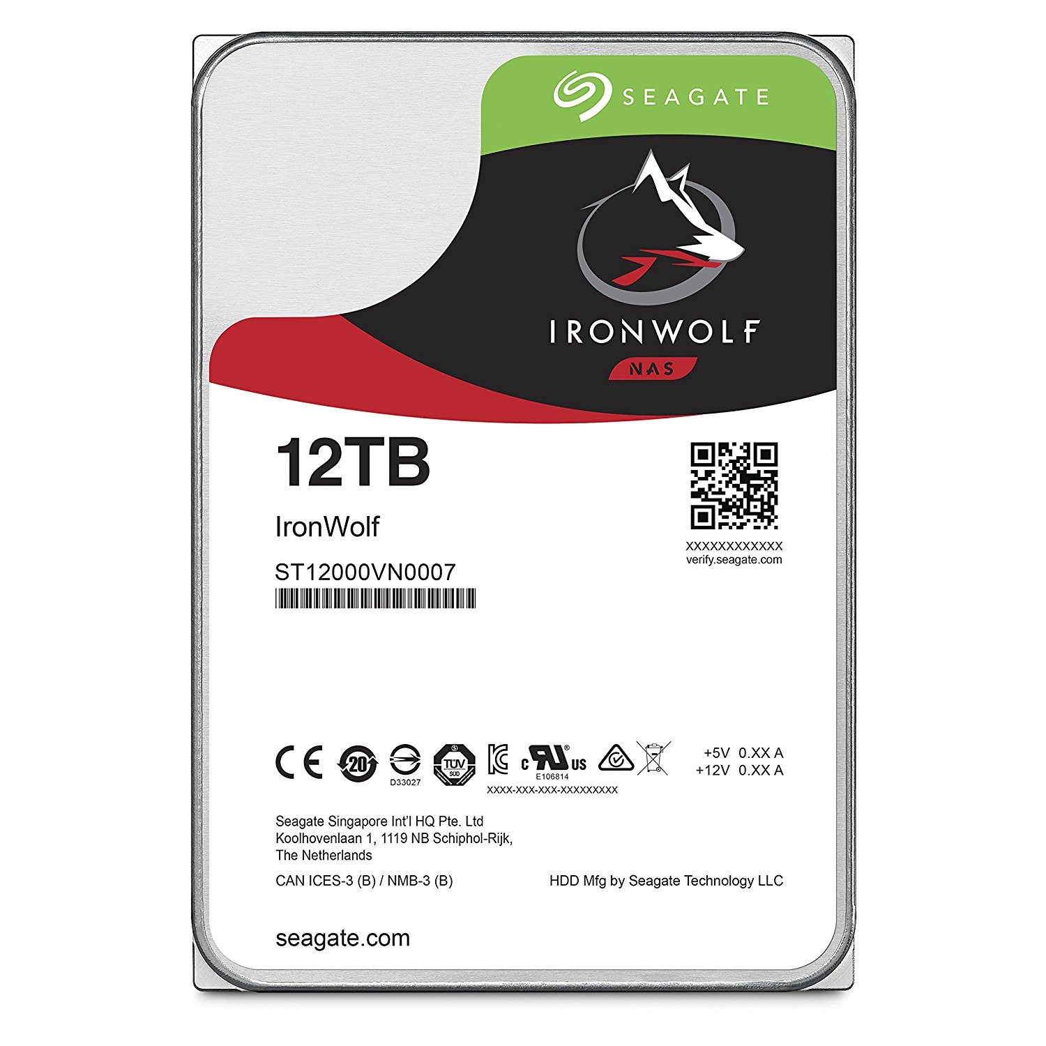 HDD Seagate IRONWOLF NAS 12TB/7200,Sata3,256MB Cache (ST12000VN0007).