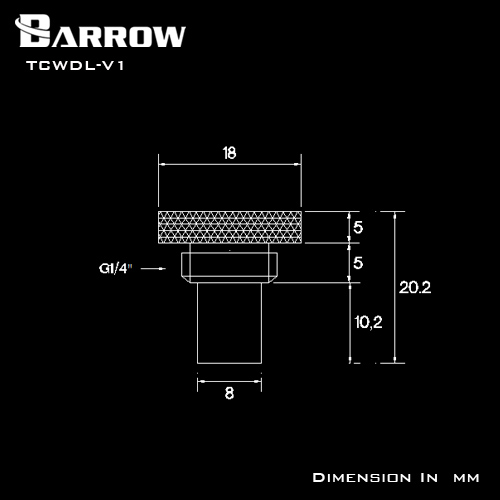 Fitting Barrow Stop Sensor V1 (White)