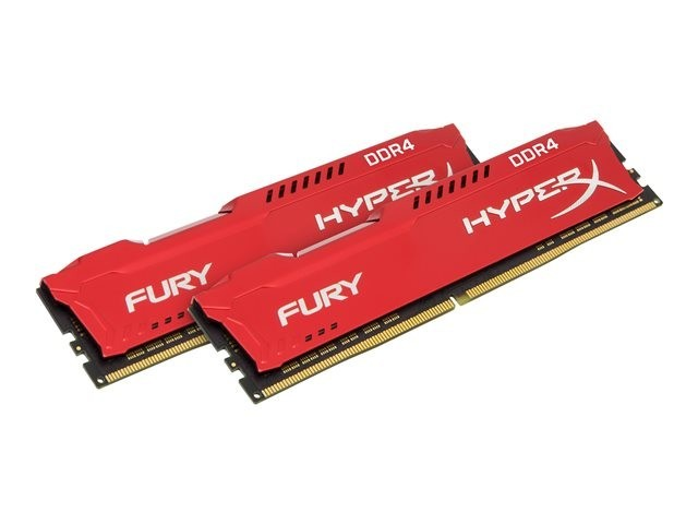 RAM Kingston DDR4 HyperX Fury 32GB 2400MHz  CL15 DIMM  (Kit of 2)  Red