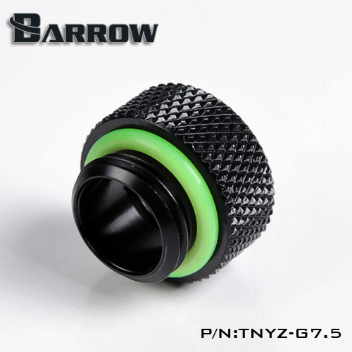 Fitting Barrow Exten 7,5mm male-female (Black)