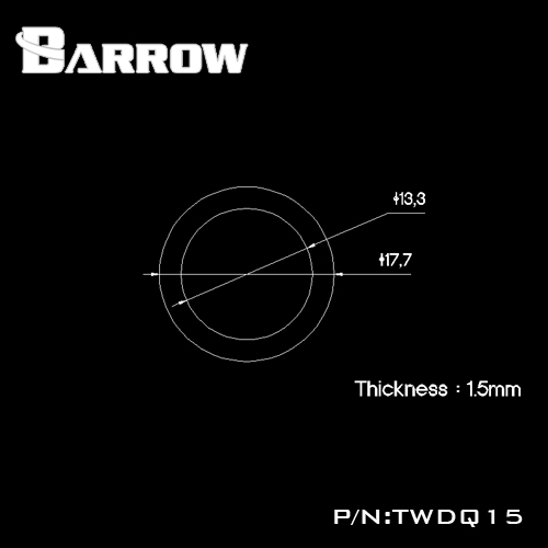 Fitting Barrow Exten 1,5mm (Black)
