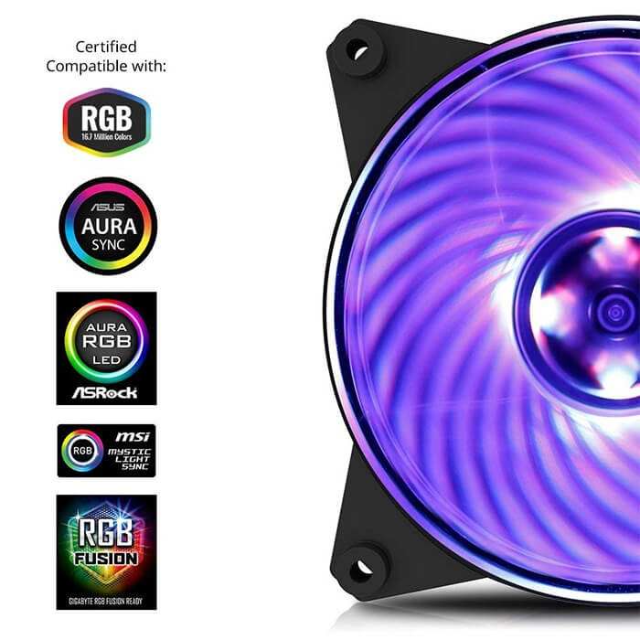Fan case Coolermaster MFP120 AB RGB 3in1 with controller