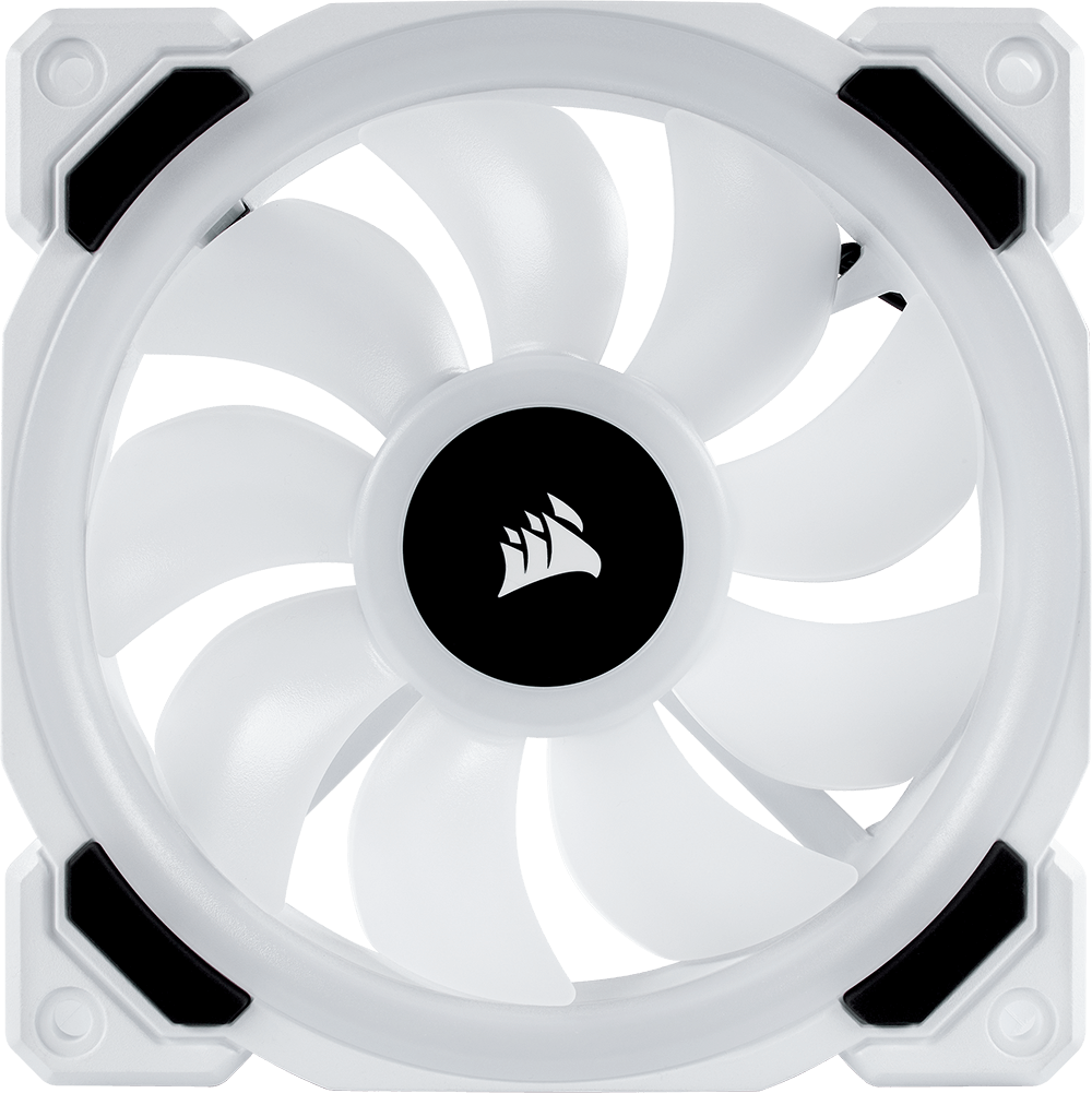 Fan case Corsair LL120 RGB White 120mm RGB LED PWM Fan (Pack 3)