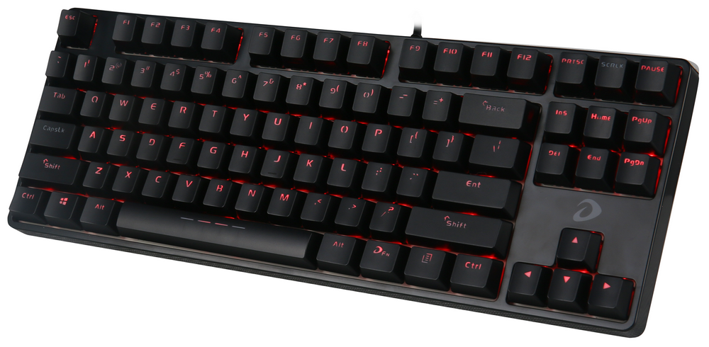 Bàn phím cơ Gaming DAREU DK87 - Black (RED Led, Blue D switch)