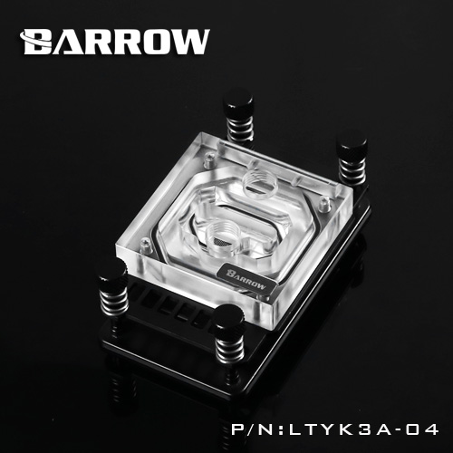 Block CPU Barrow AM4 RGB (Clip Black)