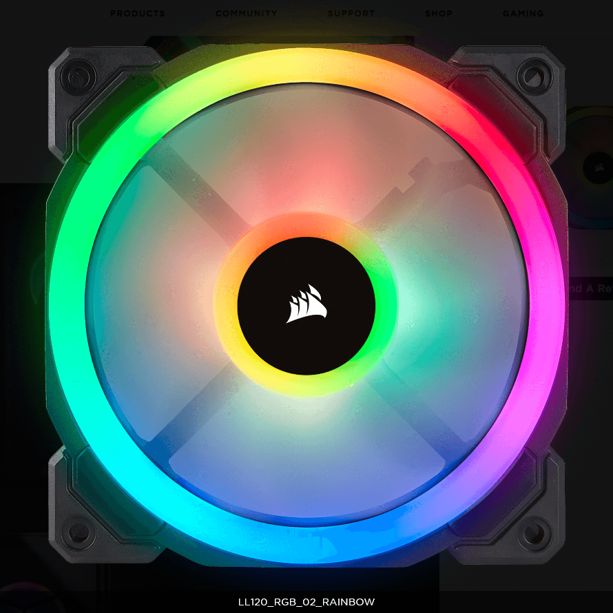 Fan Corsair LL120 RGB 120mm RGB LED PWM Fan (Pack 3)