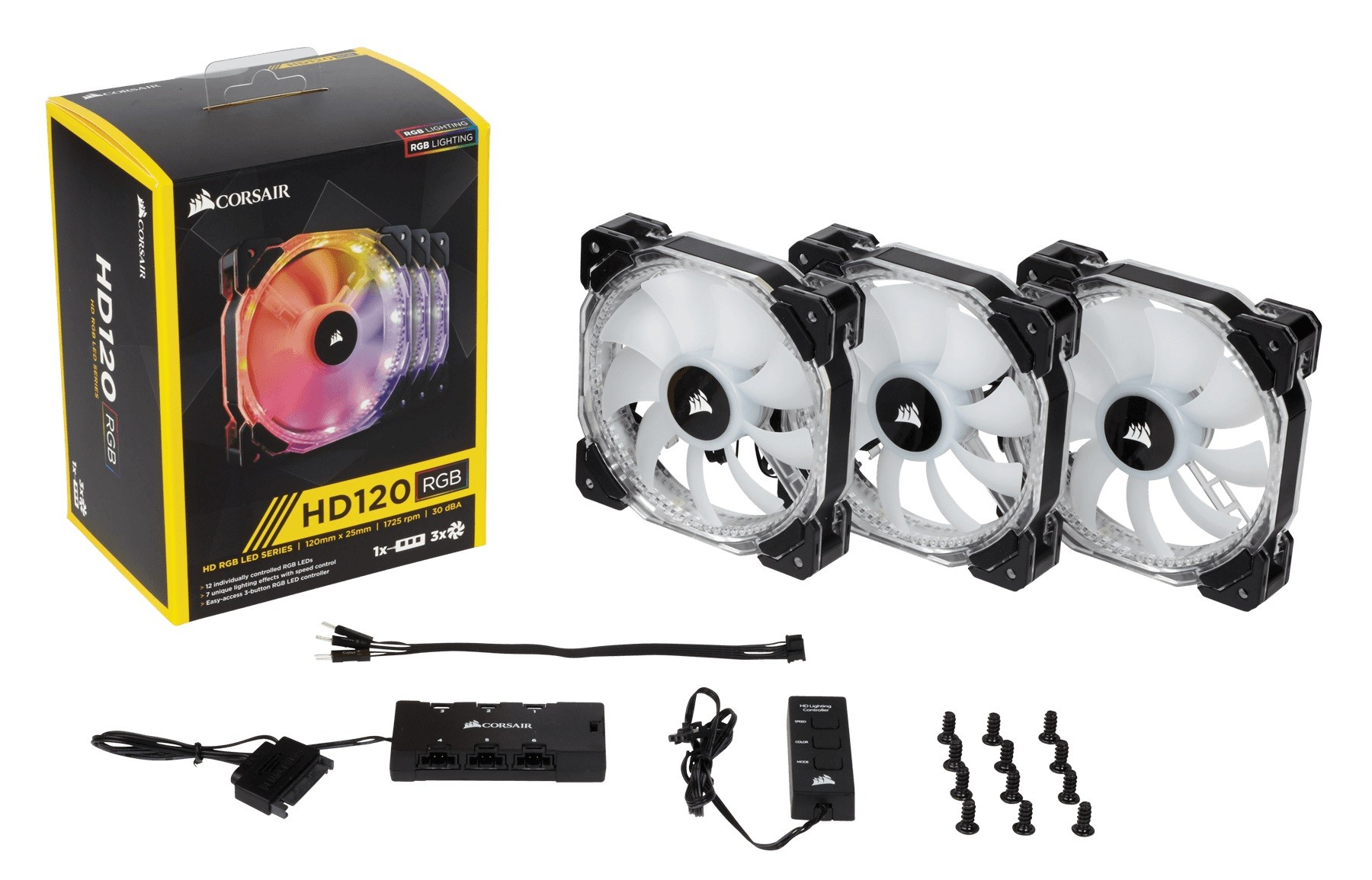 Fan Case Corsair HD120 RGB Led(Pack 3 fan)