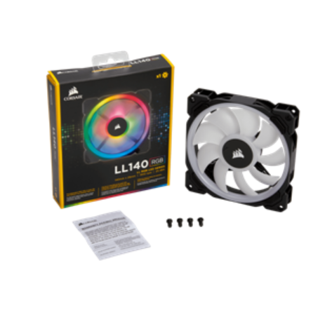 FAN LL140 RGB 140mm Dual Light Loop RGB LED PWM Fan — Single Pack