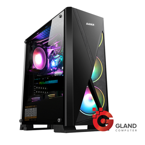 Vỏ case SAMA JAZOVO Plus XII Black (3FAN RGB)