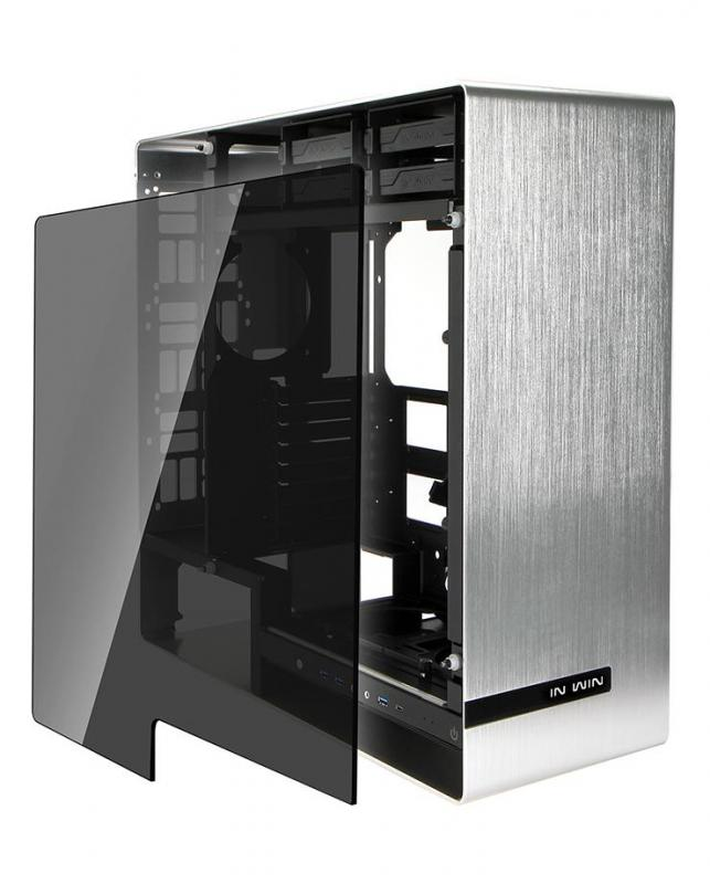 Vỏ case InWin 909 Aluminium Tempered Glass – Full-Tower (White)