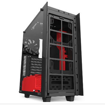 Vỏ case NZXT S340 ELITE MATTE BLACK/RED MID TOWER