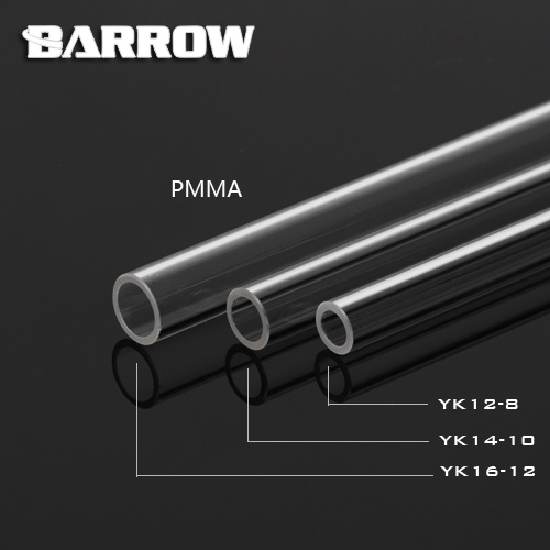 Hardtube Barrow Acryl OD:12mm (1m)