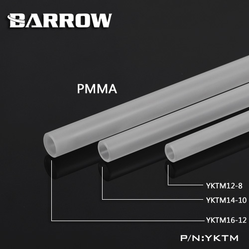 Hardtube Barrow Matte Acryl OD:12mm (50cm)