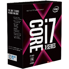 CPU Intel Core i7 – 7820X 3.6 GHz Turbo 4.3 Up to 4.5 GHz / 11MB / 8 Cores, 16 Threads / socket 2066
