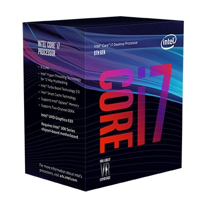 CPU Intel Core i7-8700 (Up to 4.60Ghz/ 12Mb cache/ Socket 1151 v2) Coffee Lake